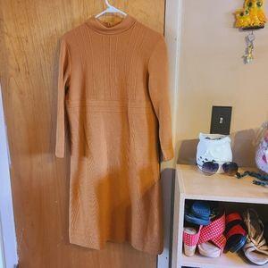 Vintage 60's palio mustard wool mod dress